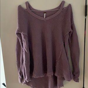 Free people vintage sweater lavender purple